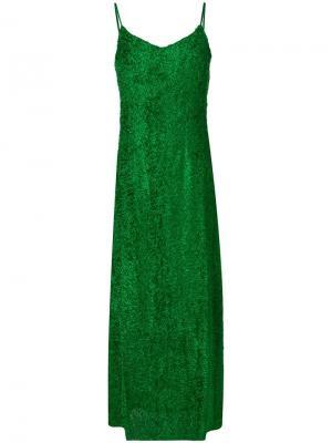 Fil coupé slip dress Ultràchic. Цвет: зеленый