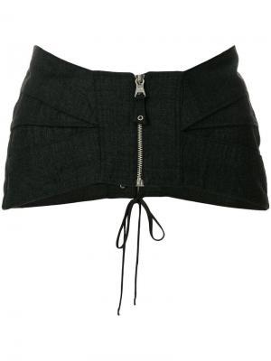 Пояс-корсет на молнии Jean Paul Gaultier Vintage. Цвет: серый