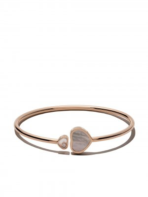 18kt rose gold Happy Dreams pink mother-of-pearl and diamond bangle Chopard. Цвет: розовый
