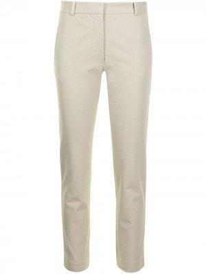 Укороченные брюки прямого кроя Joseph. Цвет: зеленый