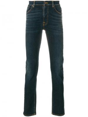 Джинсы скинни Lin Nudie Jeans Co. Цвет: синий