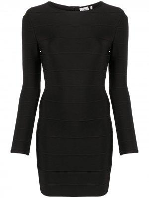 Платье мини Icon Hervé Léger. Цвет: черный