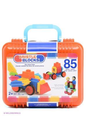 Конструктор игольчатый в чемоданчике, 85 дет Battat. Цвет: оранжевый, голубой, желтый, красный, синий