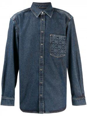 Джинсовая рубашка MCM. Цвет: синий