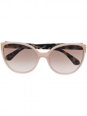 Солнцезащитные очки в оправе кошачий глаз Kate Spade. Цвет: нейтральные цвета