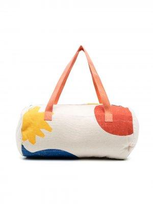 Дорожная сумка с абстрактным принтом Bobo Choses. Цвет: нейтральные цвета