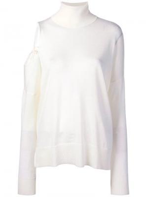 Cut-out shoulder jumper P.A.R.O.S.H.. Цвет: белый