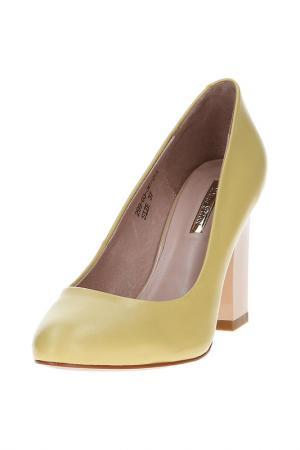 Туфли DINO RICCI. Цвет: желтый
