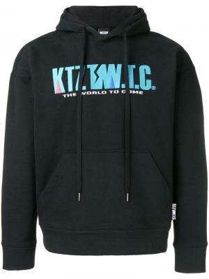Толстовка с капюшоном и вышивкой логотипа KTZ. Цвет: черный
