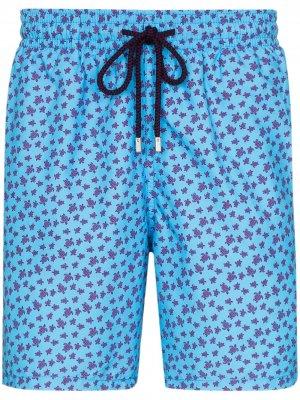 Плавки-шорты Moorea с принтом Vilebrequin. Цвет: синий