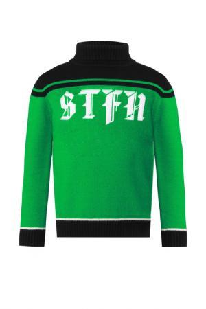 Свитер STEFANIA. Цвет: зеленый