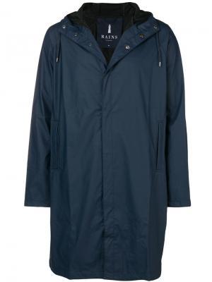 Waterproof hooded coat Rains. Цвет: синий