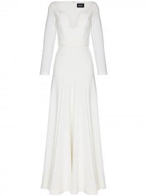 Платье макси Sanna с открытыми плечами Solace London. Цвет: белый
