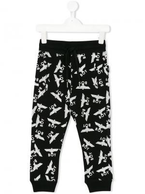 Спортивные брюки с принтом Boy London Kids. Цвет: черный