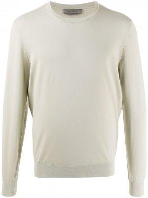 Пуловер с вышитым логотипом Corneliani. Цвет: нейтральные цвета