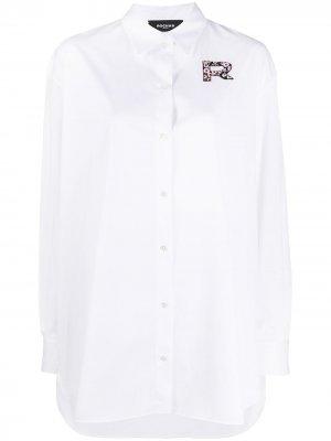Рубашка с нашивкой-логотипом Rochas. Цвет: белый