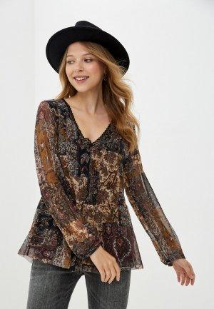 Блуза Desigual. Цвет: разноцветный