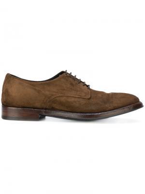 Дерби на шнуровке Alberto Fasciani. Цвет: коричневый