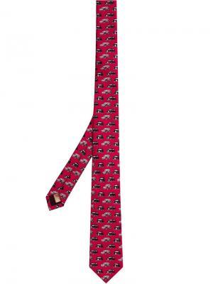 Узкий галстук с принтом Burberry. Цвет: розовый