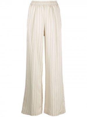 Широкие брюки в полоску Nude. Цвет: белый
