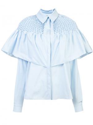 Ruffled shirt Vionnet. Цвет: синий