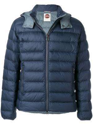 Стеганая куртка с логотипом Colmar. Цвет: синий