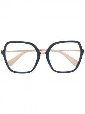 Очки в массивной оправе Valentino Eyewear. Цвет: синий