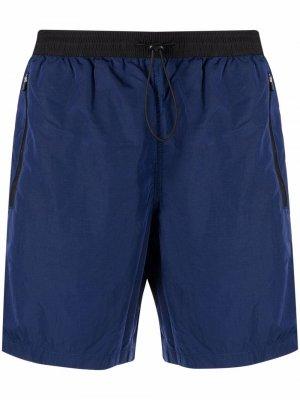 Плавки-шорты с нашивкой-логотипом Mc2 Saint Barth. Цвет: синий