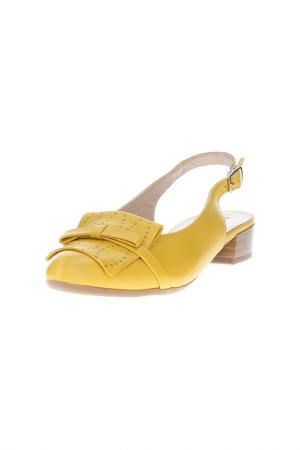 Туфли Alpina. Цвет: желтый