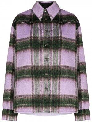 Клетчатая рубашка с длинными рукавами Natasha Zinko. Цвет: фиолетовый