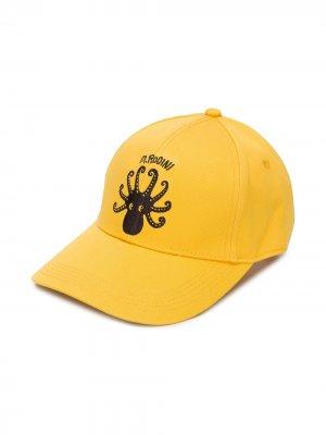 Бейсболка Octopus с вышивкой Mini Rodini. Цвет: желтый