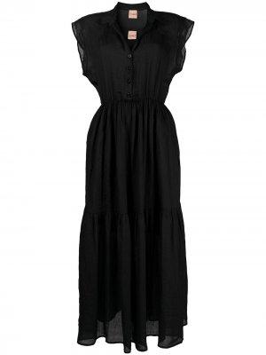Платье макси на пуговицах Nude. Цвет: черный