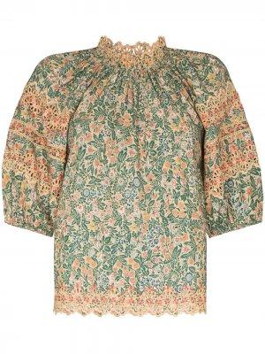 Блузка Lorna с английской вышивкой Ulla Johnson. Цвет: оранжевый