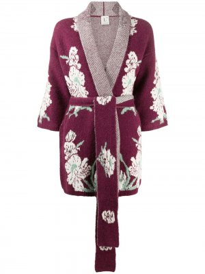 LAutre Chose трикотажный халат с вышивкой L'Autre. Цвет: красный