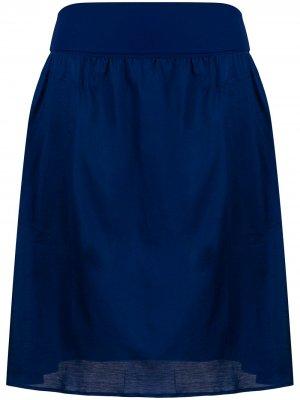 Атласная пляжная юбка Eres. Цвет: синий