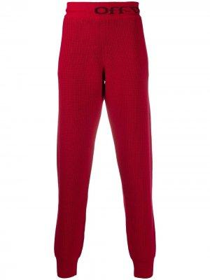 Трикотажные спортивные брюки Off-White. Цвет: красный