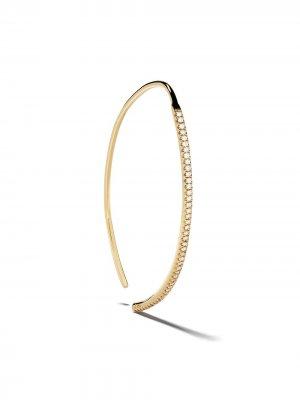 Серьга-кольцо из желтого золота с бриллиантами Ileana Makri. Цвет: золотистый