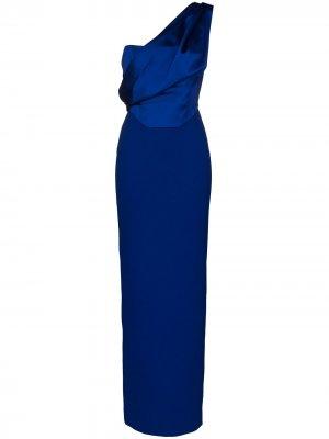 Вечернее платье Kara Solace London. Цвет: синий