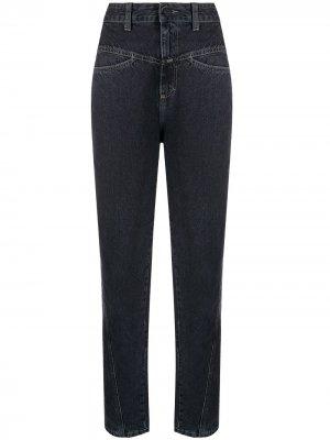 Зауженные джинсы с завышенной талией Closed. Цвет: серый