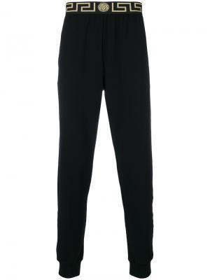 Спортивные брюки Greca Versace. Цвет: черный