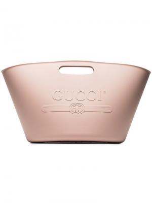 Пляжная сумка с тиснением Gucci. Цвет: pink
