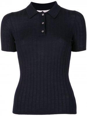 Рубашка поло в рубчик Dion Lee. Цвет: синий
