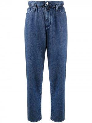 Зауженные брюки с завышенной талией Karl Lagerfeld. Цвет: синий