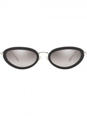Солнцезащитные очки в оправе кошачий глаз Délice Miu Eyewear. Цвет: черный