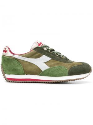 Colour block sneakers Diadora. Цвет: зеленый