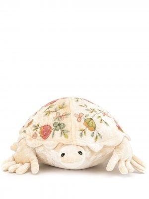 Мягкая игрушка в виде черепахи с вышивкой Anke Drechsel. Цвет: коричневый