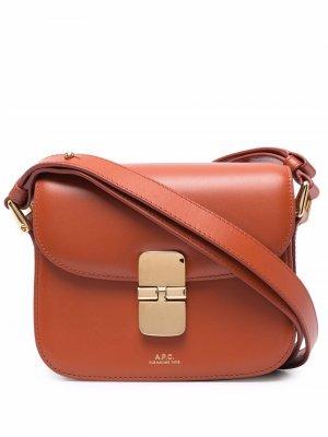 Мини-сумка на плечо Grace A.P.C.. Цвет: коричневый