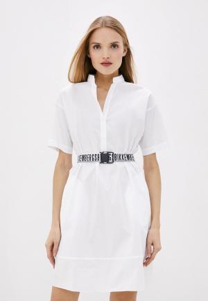 Платье Bikkembergs. Цвет: белый