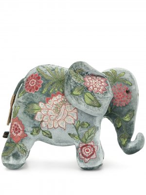 Мягкая игрушка в виде слона с вышивкой Anke Drechsel. Цвет: синий