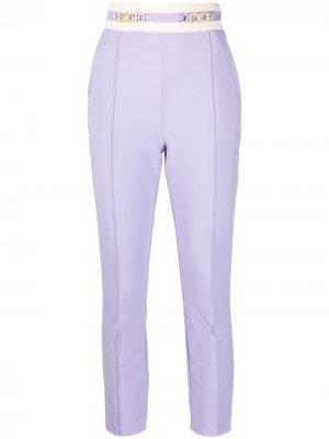 Укороченные брюки строгого кроя Elisabetta Franchi. Цвет: фиолетовый